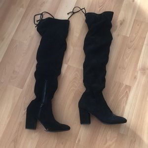Knee-high boots really cute but too small for me
